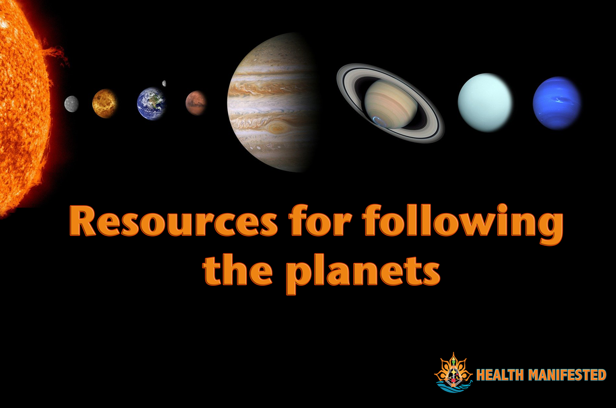 Resources for following planets